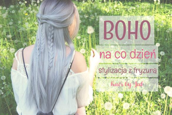 Stylizacja boho z fryzurą