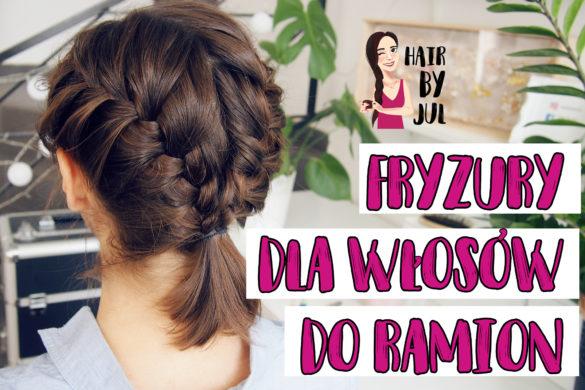 fryzury z warkoczami dla włosów do ramion